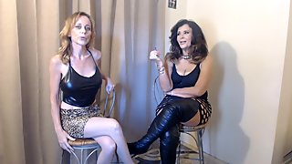 2 HOT MILFS smoking with dirtytalk