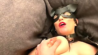 Scarlett Heartache - Kitty Fingers Pussy, Fucks Daddy, Squirts Milk