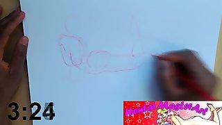 Quick Sketches: Sexy Curvy Larkin Love