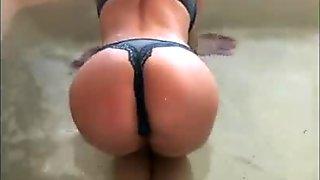 Petite Sammy James big tit beautiful blonde takes a bath pt1