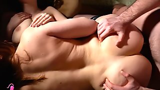 Hannah Vivienne Deepthroat with Monica White & Doggystyle with Cum Eating