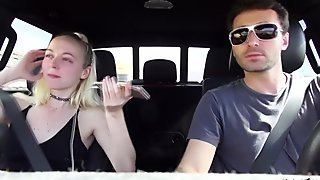 SEX IN A CAR WITH HORNY BLONDE TEEN IRIS ROSE MAKES HER CUM MULTIPLE TIMES