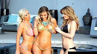 Lesbian 3Way! Nikki Benz Angela Sommers & Samantha Saint!