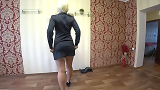 Lesbian with rubber dick fuck girlfriend with juicy ass, amateur POV.