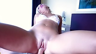 Blowjob and Fuck after the shower! Perfect Blonde! - Free Version